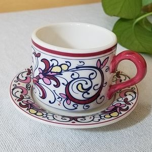 Mini Cup & Saucer, The White Barn Candle Co
